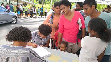 Fidži asukkaat tuhkarokko rokotus Suva 4.12.2019