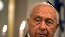 Ariel Sharon, kuva:  EPA/KEVIN FRAYER/POOL