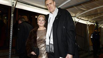 Jääkiekkoilija Marko Anttila ja vaimo Heidi Anttila