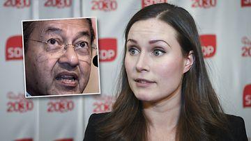 Sanna Marin ja Mahathir Mohamed