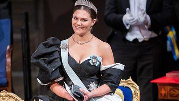 Prinsessa Victoria Nobel-gaalassa 2019