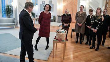 presidentti Sauli Niinistö ja rouva Jenni Haukio joulutervehdykset 19.12.2019 Mäntyniemi Helsinki