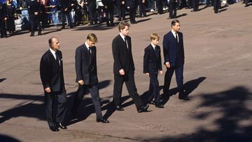 prinssi philip prinssi william charles spencer prinssi harry prinssi charles prinsessa dianan hautajaiset 1997