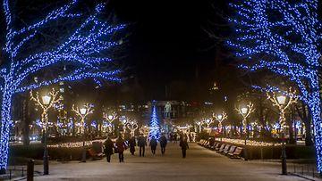 Helsinki Esplanadi puisto 2016 talvi joulu