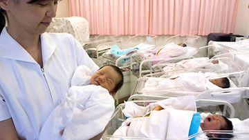 Japani vauvat syntyvyys
