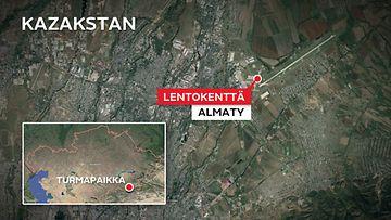 Almaty-lentokenttä-kazakstan-kartta (1)