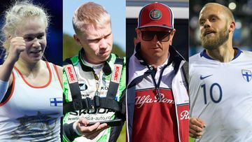 Petra Olli, Kalle Rovanperä, Kimi Räikkönen, Teemu Pukki