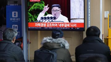 Kim Jong-un puhuu televisiossa 31.12.2019