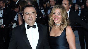 Carlos ja Caroline Ghosn Cannes toukokuu 2018