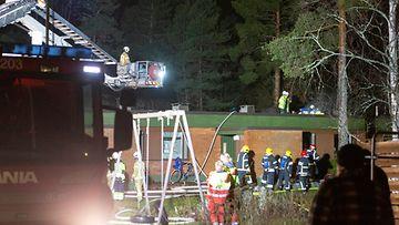 Hamina rivitalopalo tulipalo 3.1.2020 Sasu Mäkinen