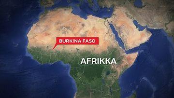 Burkina-faso-afrikka-kartta