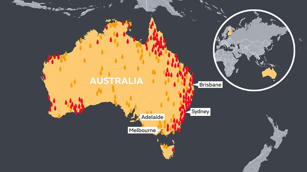 Australian Liekkien Tuhoama Alue On Kuusi Kertaa Uudenmaan