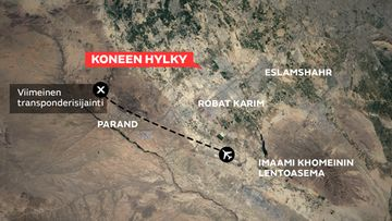 Ukrainalainen Boeing 737-800 crash irak