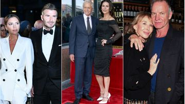 David ja Victoria Beckham, Sting, Trudie Styler, Catherine Zeta-Jones, Michael Douglas