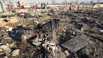 LK: ukrainalaiskoneen onnettomuuspaikka