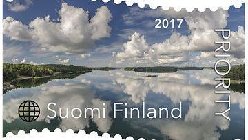 LK pilviä saaristossa postimerkki