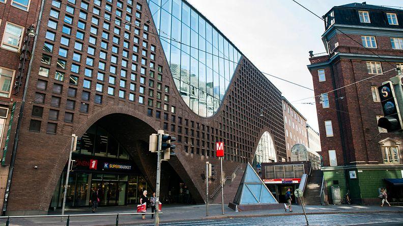 Helsingin yliopisto keskustakampus kirjasto entinen Kodin Ykkönen Anttila kuvituskuva Kaisaniemenkatu