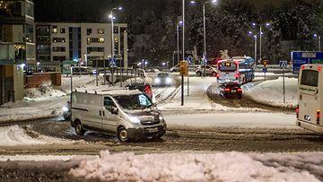 aop liikenne, talvi, Kirkkonummi, loska, räntä