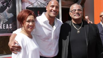 Ata Johnson, Dwayne Johnson, Rocky Johnson