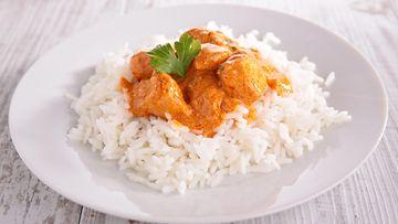 kanaa ja riisiä kana riisi