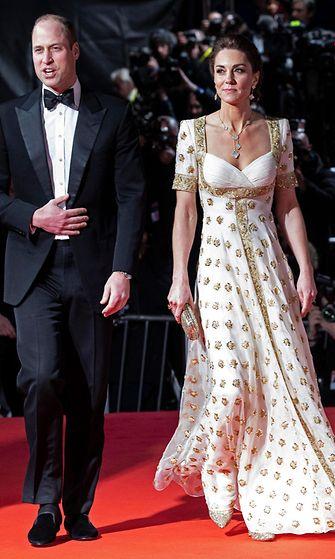 Prinssi William ja herttuatar Catherine Bafta