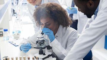 tutkijat, tutkimus, mikroskooppi