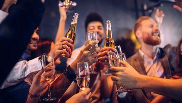 juhlat, alkoholi, ystävät, kaveriporukka