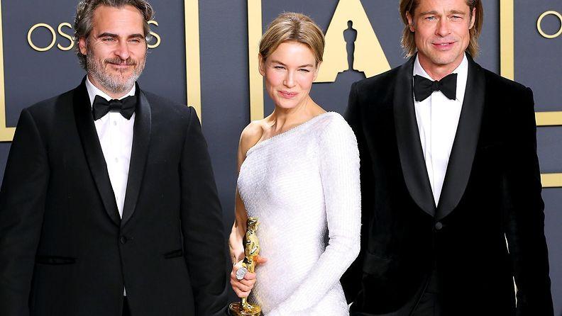 Joaquin Phoenix, Renée Zellweger, Brad Pitt Oscar-gaala 9.2.2020