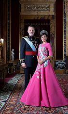 Espanjan kuningas Felipe ja kuningatar Letizia