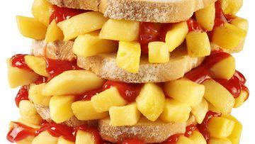 chip butty ranskalaiset hampurilainen