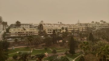 Kanariansaaret Puerto Rico hiekkamyrsky calima 4