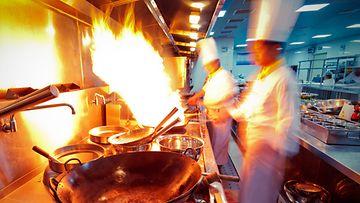 Ravintola keittiö kokki