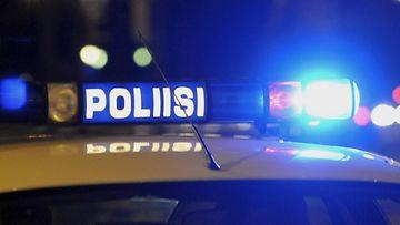 Poliisi poliisiauto kyltti kuvituskuva. ladattu 27.2. LK