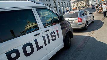 Poliisi kuvituskuva poliisiauto AOP