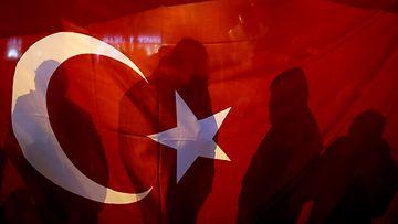 turkki lippu kuvituskuva