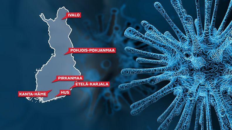 Koronavirus kartta Suomi