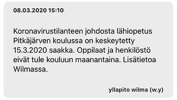 Wilma, Pitkäjärven koulu