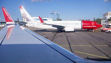 Norwegian lentokone Helsinki-Vantaa 2014