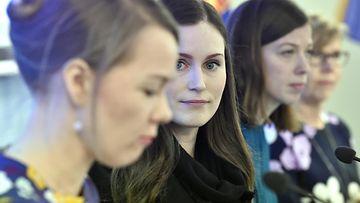 LK hallitus tiedotustilaisuus korona Kulmuni Marin Andersson Henriksson 20.3.2020