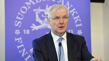 Olli Rehn Suomen Pankki tiedotustilaisuus