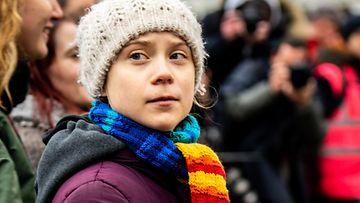 Greta Thunberg ilmastomielenosoitus Bryssel 6.3.2020 2
