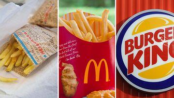 pikaruokaravintolat Hesburger Mcdonald's Burger King