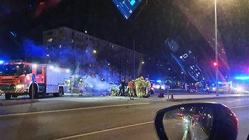 Onnettomuus Teollisuuskadulla Helsingissä