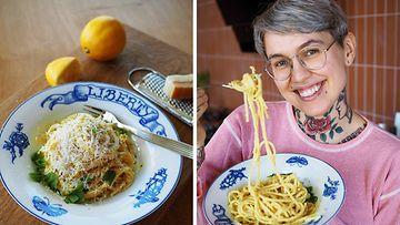 kikherne pasta limonello Natalia Salmela