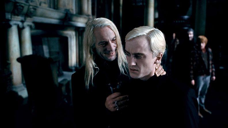 Jason Isaacs ja Tom Felton Harry Potter
