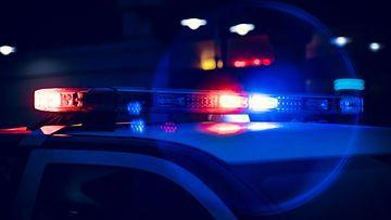 poliisiauto, valot