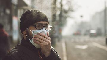 saastunut alue, hengityssuojain