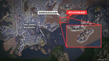 Kartta-Hylkysaari-Helsinki