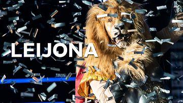 masked singer leijona-teksti