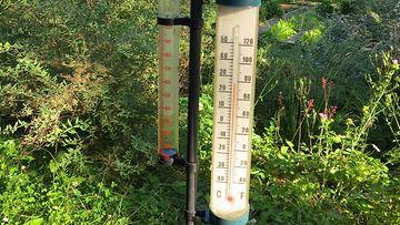 AOP Lämpömittari kevät kesä lämpö lämpöennätys